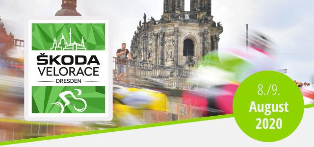 Titelbild des Newsletter mit SKODA Velorace Dresden Logo